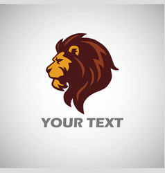 lion logo mascot template vector image