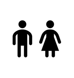 Male and female restroom or toilet glyph icon vector