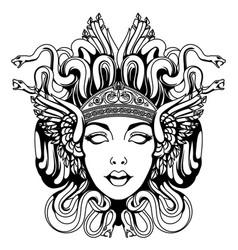 medusa gorgon portrait vector image