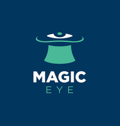modern professional logo magic eye in blue vector image