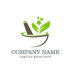 Mortar organic logo design vector