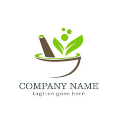 mortar organic logo design vector image