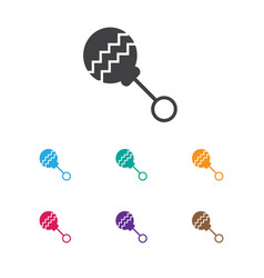 of infant symbol on rattle vector image