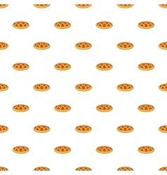 Pie pattern cartoon style vector image