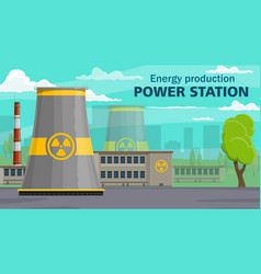 power plant energy production plant pollution vector image