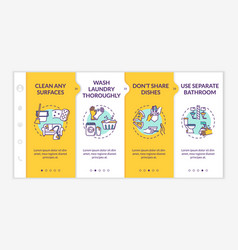 Quarantine household rules onboarding template vector