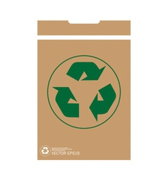 Recycle symbol symbol on the packaging vector