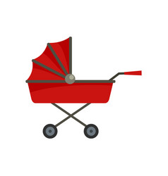 Retro baby carriage icon flat style vector
