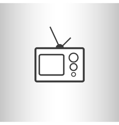Retro TV set icon vector