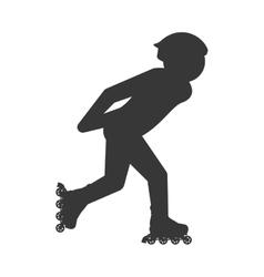 roller skate silhouette pictogram shoe hobby icon vector image