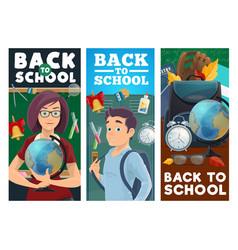 School education teacher and pupil vector