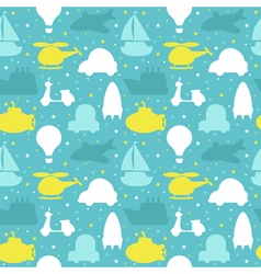 Seamless pattern with silhouette of transport Cute vector image
