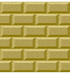 seamless wall with rusticated blocks vector image