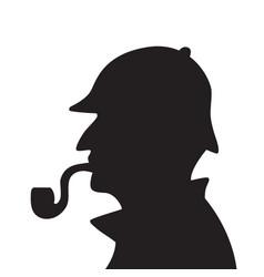 sherlock holmes silhouette vector image