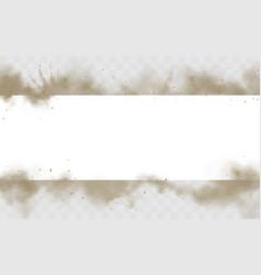 Smoke empty banner mock up dirty smog border vector