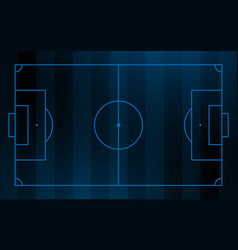 soccer and football field background vector image