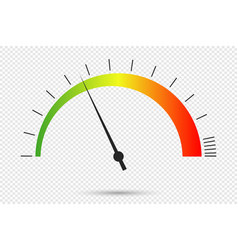 Speedometer icon at transparent background vector