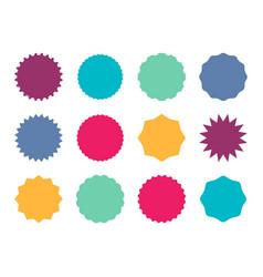 starburst colorful badges color star sticker vector image
