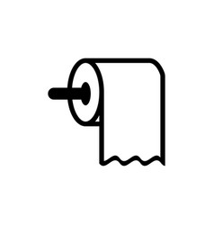 toilet paper icon design template isolated vector image