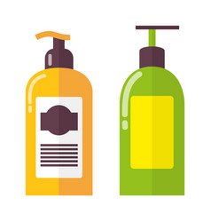 Two bright colorful bottles vector