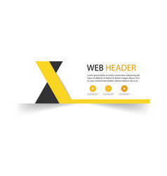 web header cross yellow black background im vector image