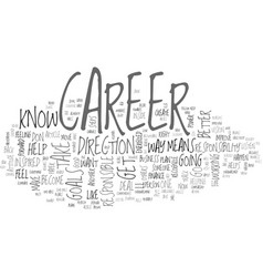 Where is your career headed text word cloud vector
