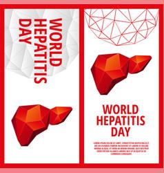 World hepatitis day flyer template vector