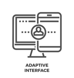 Adaptive Interface Line Icon vector image vector image