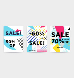 bright colorful design set vector image vector image