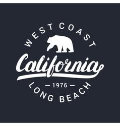 California handwritten lettering Tee apparel vector image vector image