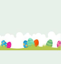 Easter egg unique on hill landscape vector