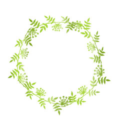 Hand drawn floral wreath vector