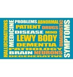 Lewy body dementia relative words list vector