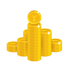 mountain gold chinese yuan or japanese yen vector image vector image