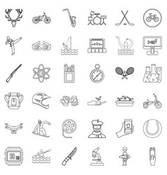 musical instrument icons set outline style vector image vector image