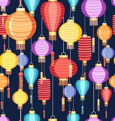 Pattern chinese lanterns vector
