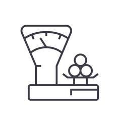 scales countershop line icon sign vector image