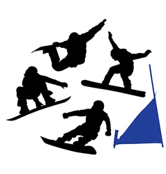 Snowboard Silhouette vector image vector image