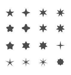 star shape icons vector image