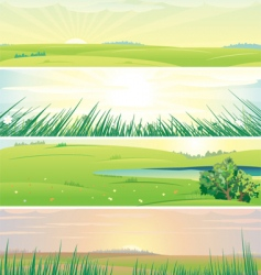 summer panorama vector image