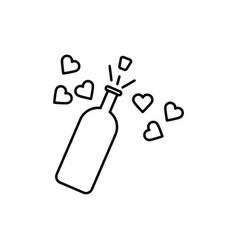 wedding champagne icon vector image vector image