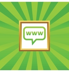 WWW message picture icon vector image