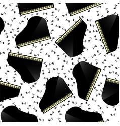 black grand piano seamless pattern vector image