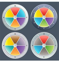 Color digital clock vector