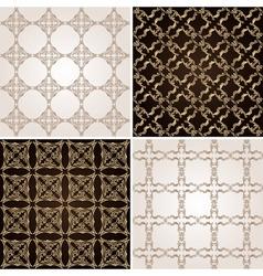 seamless vintage background wallpaper set vector image