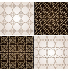 seamless vintage background wallpaper set vector image vector image