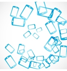 abstract background smartphone vector image