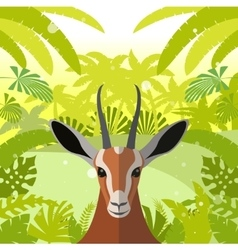 Antelope on the Jungle Background vector image vector image