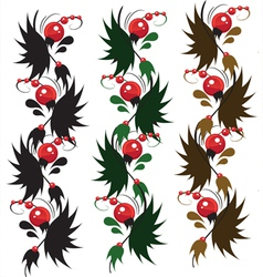 multicolored delicate ornament berry vector image vector image