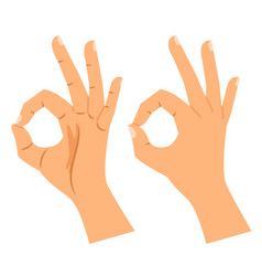 okay gesture agree or perfect symbol vector image vector image